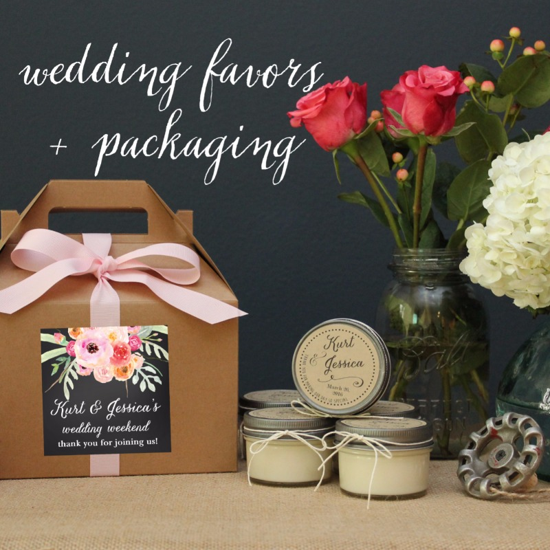 Shop our collection of unique wedding favors and packaging.