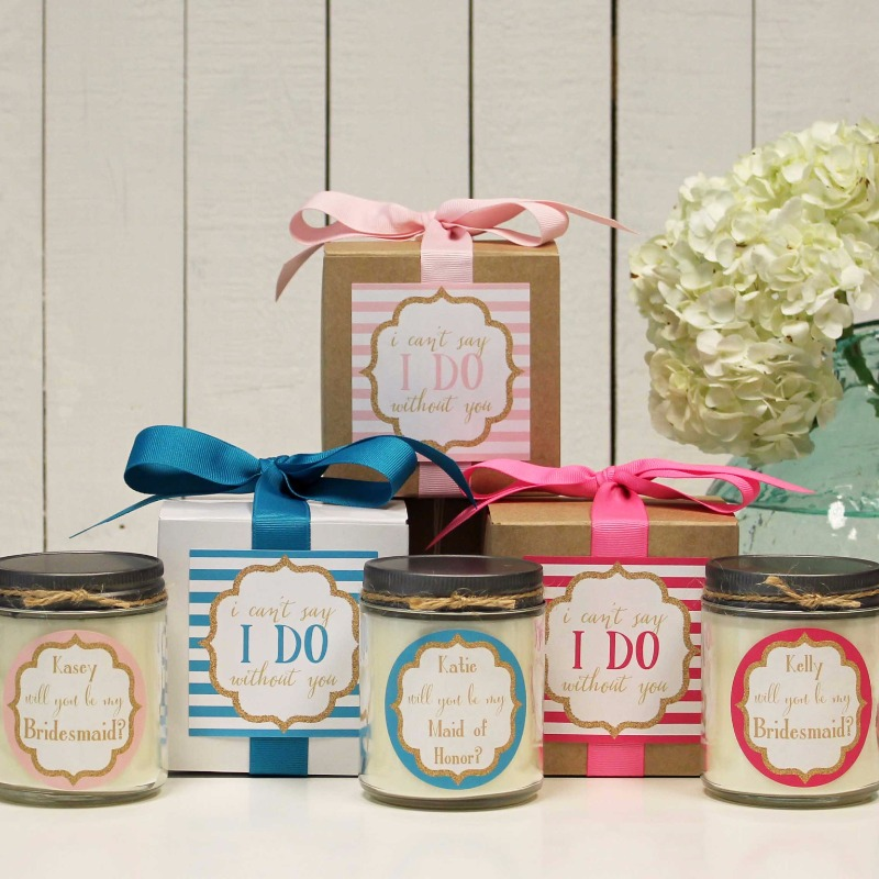 I can't say I do without you! Gifts for your bridal party