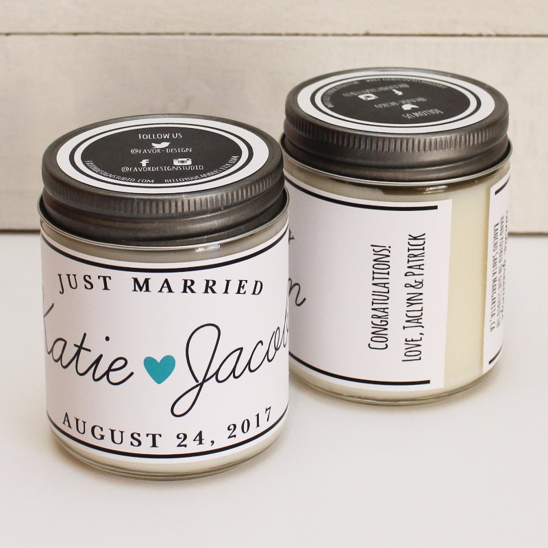 Personalized wedding gift candles and Candle Greetings for every occasion! Visit our newest Etsy shop to purchase. Coming to The