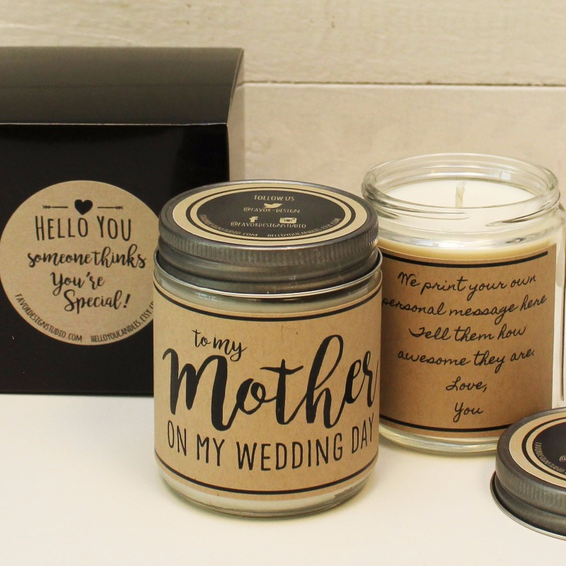 To My Mother on my Wedding Day! Personalized Candle Greetings for every occasion.