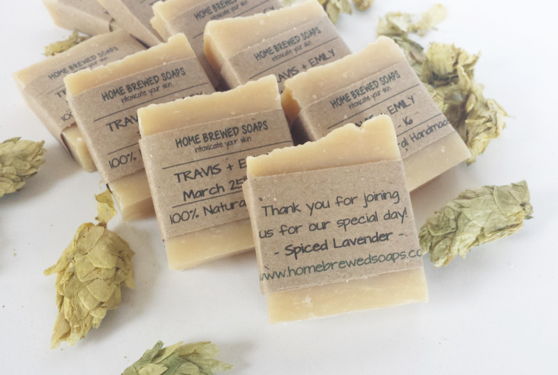Why not surprise your guests with our beer soap wedding favors that are truly out of the box and filled with hops?
