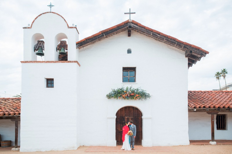 Gorgeous Spanish style wedding at El Presidio in Santa Barbara.