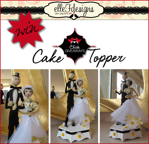 Elle F Designs - Cake Toppers GIVEAWAY!!!!