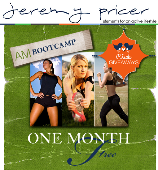 BOOT CAMP GIVEAWAY! $180 PRIZE!!