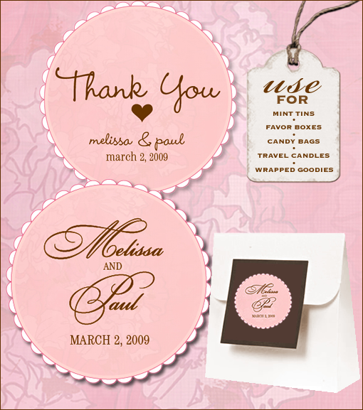 Do It Yourself Wedding Gift Tags : Blog - Sweet Retro Free Wedding Labels Download