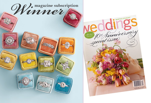 Magazine Subscription Giveaway Winner