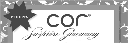 Cor Soap Surprise Giveaway Winners