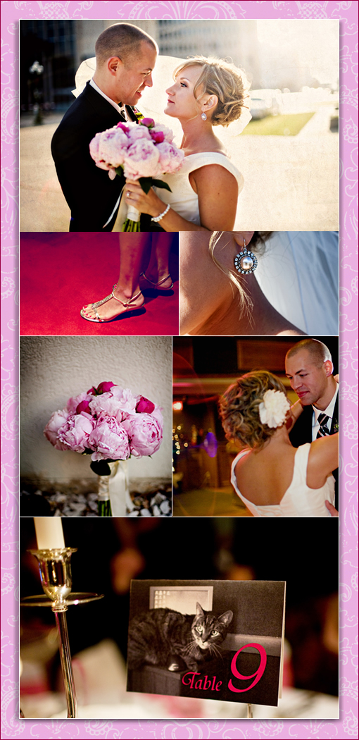 Pink & Green Wedding Colors Palette