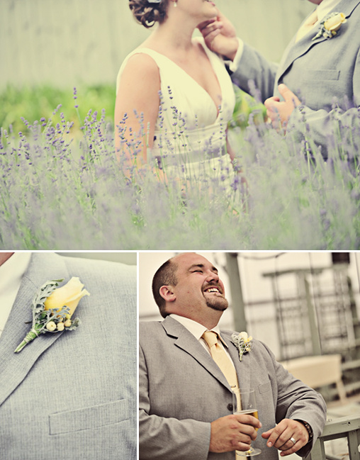 grey and yellow wedding ideas