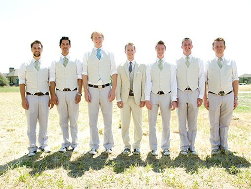 unique groomsman attire