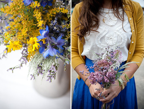 yellow and blue wedding ideas