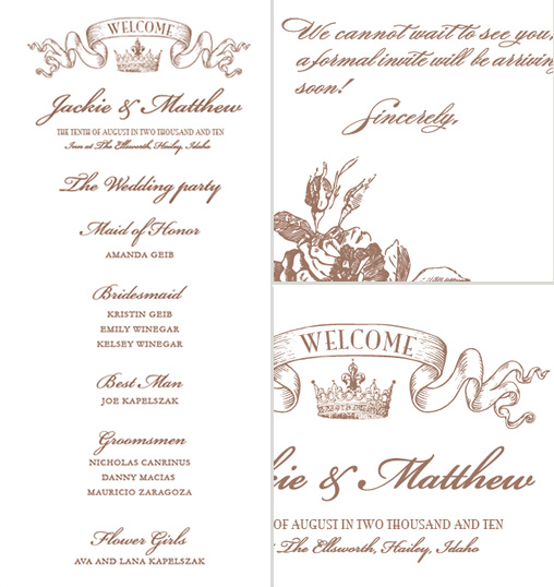 Free crown wedding invitation