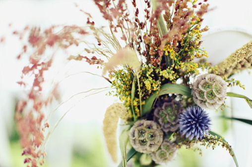 wildflower wedding arrangement