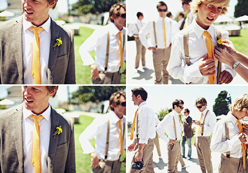 yellow groomsman ideas