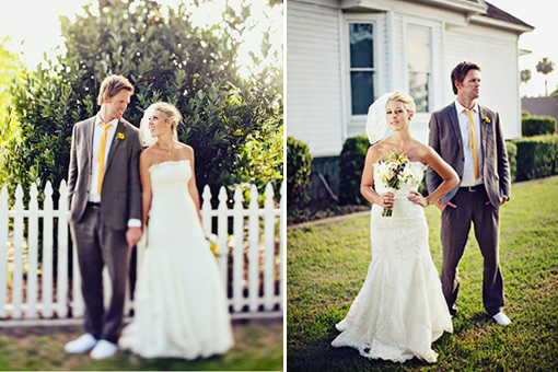 gray and yellow groom ideas