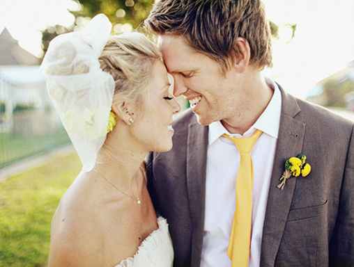 yellow gray wedding ideas