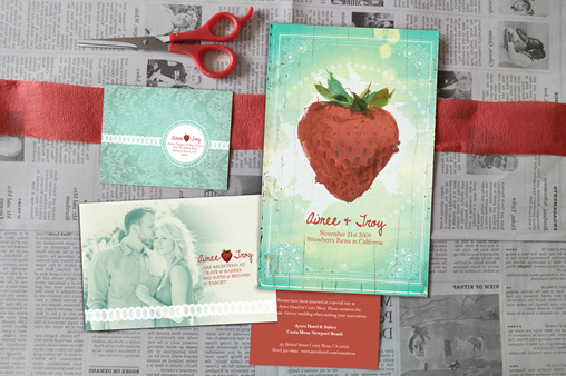 Strawberry Wedding Invite