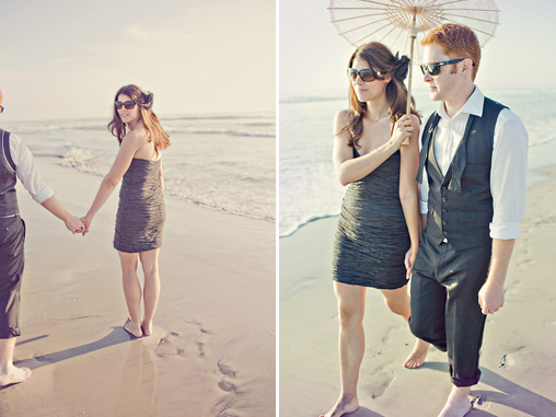 beach engagment shoot