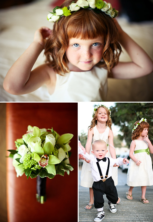 Green Flower Girl Ideas