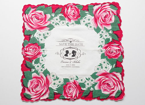 Vintage Hankie Save The Date