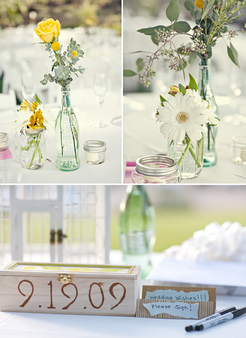 Mason Jar Wedding Flowers
