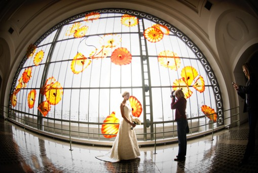 Jessica Johnson's Bridal Portrait at Tacoma Union Station, Tacoma, WA