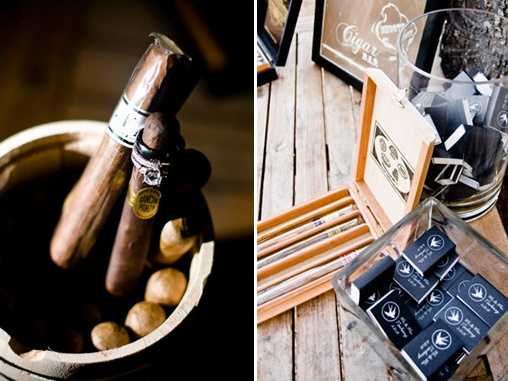 wedding cigar bar