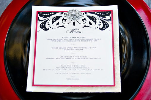 twilight wedding menu
