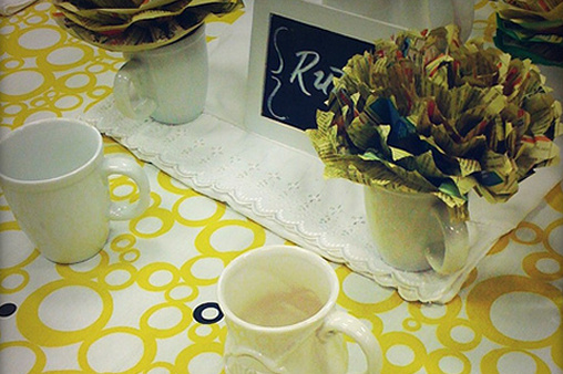 Yellow Pages Do It Yourself Tissue Paper Flowers