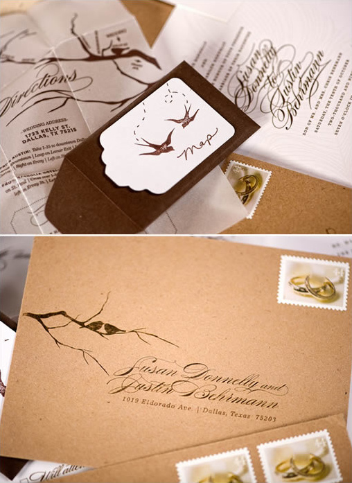 swallow wedding invitations
