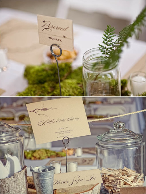 eco friendly wedding sign