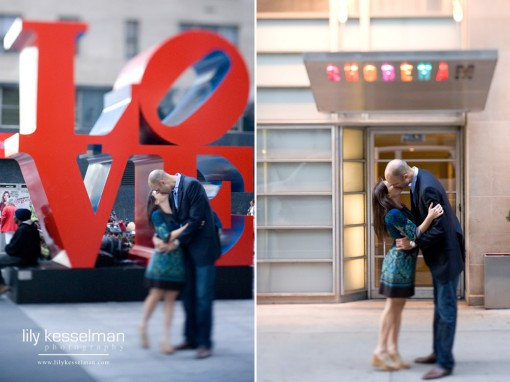 The fabulous Robert Indiana LOVE sculpture along Sixth Avenue and the Shoreham Hotel.