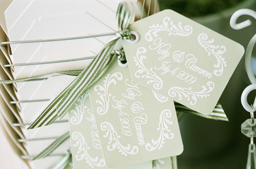 green wedding favors