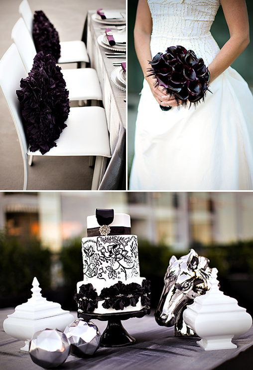 silver and black wedding ideas