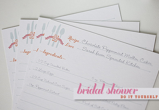 photo relating to Free Printable Recipe Cards for Bridal Shower titled Bridal Shower Recipe Playing cards Template