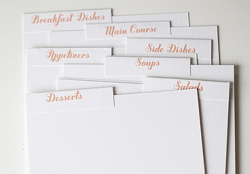 diy recipe cards