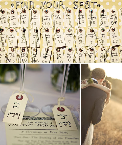 handmade escort cards