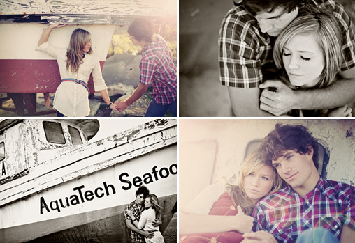 boat side engagement session