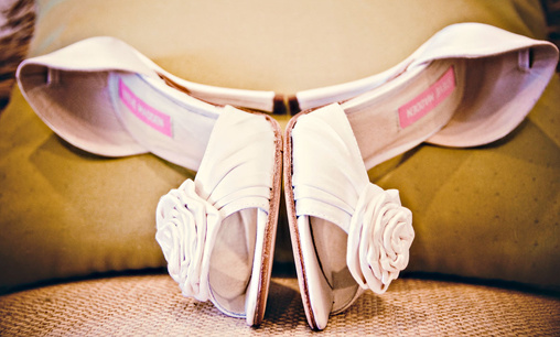 white rose wedding shoes