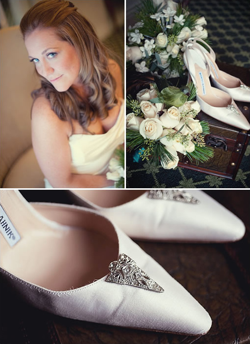 vintage winter wedding shoes