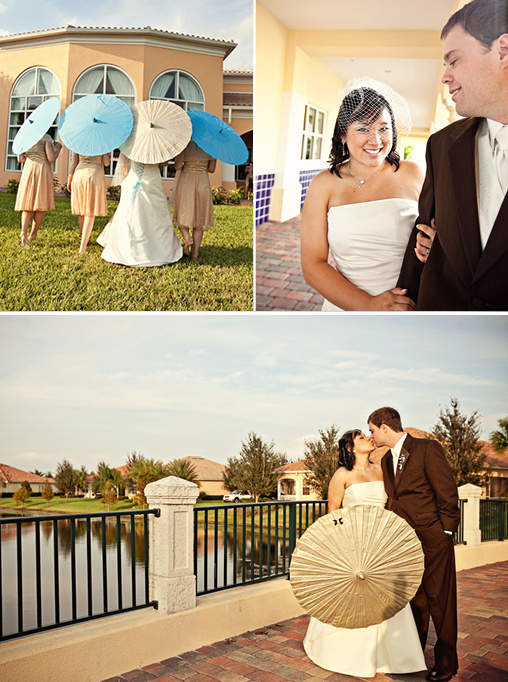 vintage wedding umbrella
