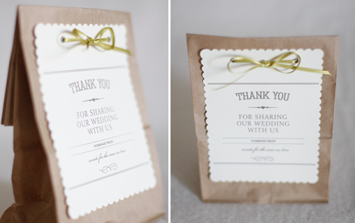 diy wedding favor bag