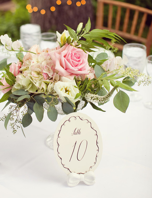 unique wedding table number holder
