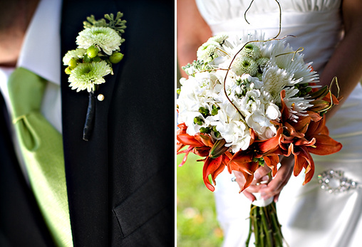 orange and white wedding ideas
