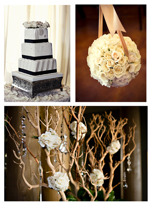 Black and Champagne Wedding