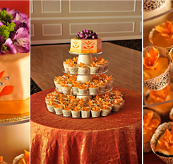 orange cup cake stand