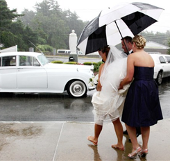 Umbrella wedding photo