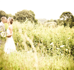 couple image in a field