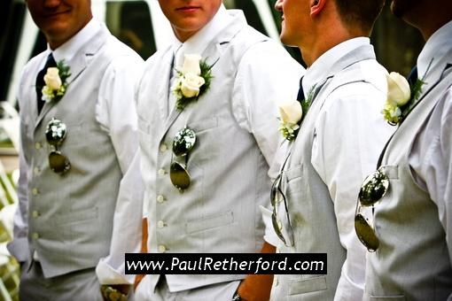 outdoor wedding clothing groomsmen