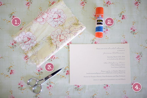 Fabric Do It Yourself Bridal Shower Invitations